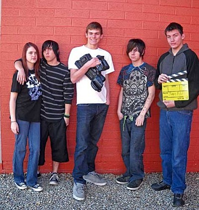 Mingus Union High School Second Place Video winners are (L-R) Jazzmine Kaml, Brice Carl, Devon Edwards, Riley Kemper and Taylor Ruelas.<br />
