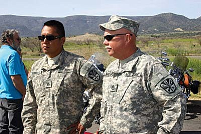 Staff Sgt. Brian Marquez was awarded a Bronze Star Medal in February for his service in Iraq with the Arizona Army National Guard.