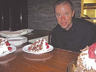 Chef Alan McClean puts his personal touch on each slice of Schwarzwalder Torte
