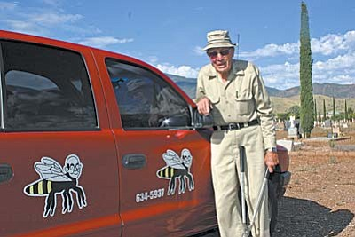 Locy Rogers is a well-known beekeeper and bee removal service in the Verde Valley.