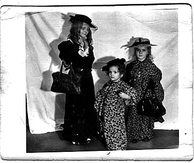 """Playing dress-up was always great fun. My father always had his camera ready,"" says Sandi Ashton, whose father Herman Flocken took this photo and developed it in the bathroom. Sandi (in center) is flanked by sisters Anita (left) and Betty Flocken. Photo submitted by Sandi Ashton of Camp Verde."