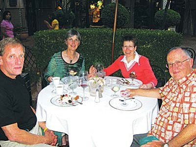 Rick and Eloise Baldauf agree with The Dunnery. Dine in Sedona at Rene's was a treat.