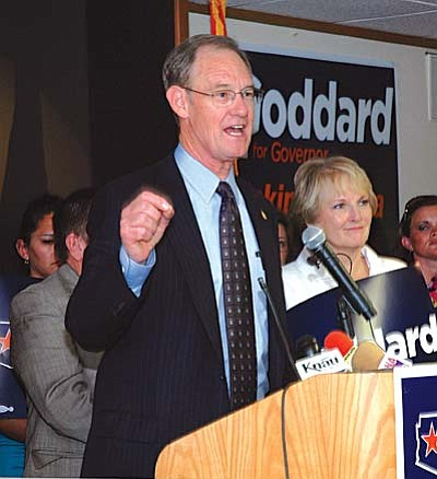 Democratic gubernatorial hopeful Terry Goddard wants Arizonans to pay taxes on some items now exempt to raise more money for education. Photo by Howard Fischer