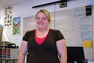 Bethany Masters is the new plant science teacher for the agriculture CTE department at Mingus Union High School. She comes from the University of Arizona where she earned a master's in agriculture education. VVN/Philip Wright