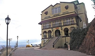 VVN file photo<br> The Jerome Grand Hotel was forced to close its doors Wednesday when the fire chief deemed it unsafe to occupy. The Asylum Restaurant remains open.