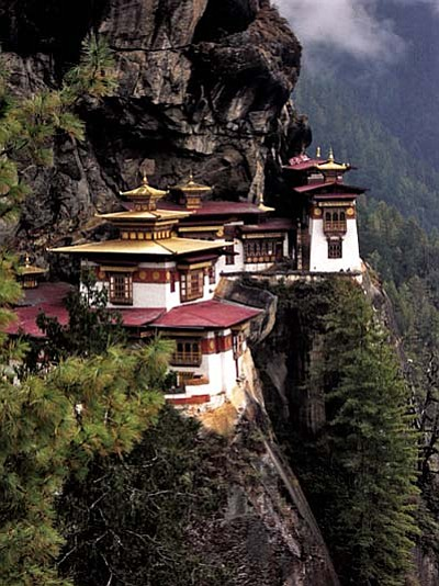 "The Taktshang Monastery is also known as the ""Tiger's Nest."""