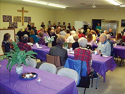 About 75 volunteers for the Old Town Mission in Cottonwood were treated Friday night to a Volunteer Appreciation Night. The mission has about 400 volunteers who help provide all of its services to the community.
