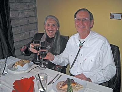 Diane and Gary Carson celebrating their 52nd anniversary at Dan's Bistro.