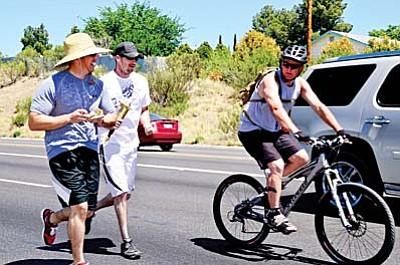 Cottonwood's second leg: Dan Villas, Scott Dever and Ryan Gilehaus on bike. VVN/Jon Pelletier