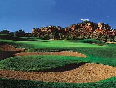 The par four, eighth hole at Sedona Golf Resort. Courtesy Photo