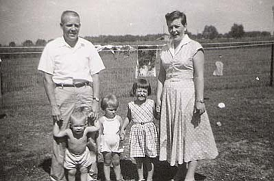 Typical Boomers? The family of Pamela Morgan (center) in Greenville, Miss.,  1957. The family moved often because her father was in the Air Force. Submitted by Pamela Morgan of Cottonwood.
