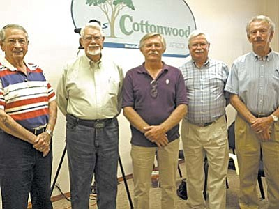 Newly appointed Airport Board members are (l-r) Rex Williams, Harold Cope, Bill Tinnan, Jim Money and Doug Palmquist.