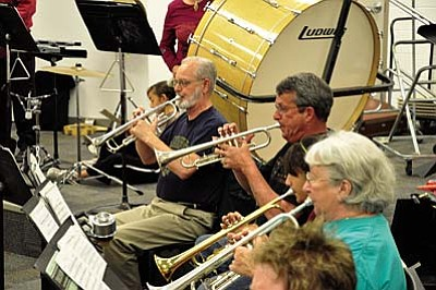Cottonwood Community Band seeks new members<br /><br /><!-- 1upcrlf2 -->Sept. 19<br /><br /><!-- 1upcrlf2 -->Dust off your instrument and come join the Cottonwood Community Band, a 45-member concert band that rehearses Monday evenings beginning Sept. 19, 7-9 p.m. at the Mingus Union High School band room. The band has an exciting fall season planned. First is a performance at Verde River Days at Dead Horse Ranch State Park on Sept. 24. The fall season will conclude with four concerts of holiday music during December that attract large audiences.<br /><br /><!-- 1upcrlf2 -->Members of the band range from middle school age to retirees. They hail from Sedona and throughout the Verde Valley. Julie Smith, who teaches music in the Cottonwood/Oak Creek School District, conducts the band. All instrumentalists who read music, especially clarinetists and trombonists, are welcomed. There is no audition and one does not need to play every concert to participate in the band.<br /><br /><!-- 1upcrlf2 -->The Cottonwood Community band was founded in 1980 and originally consisted of eight members, some of who still perform with the band today. It was incorporated as a non-profit organization in 2001. For more information about the band, visit the band's website at http://cottonwoodcommunityband.org.   Photo by Bryan Chambers