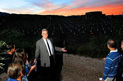 VVN file photo<br /><br />Yavapai College Verde Valley Dean Tom Schumacher at the vineyards on the Clarkdale Campus. The college hopes to grow the viticulture program into the Southwest Wine Center.
