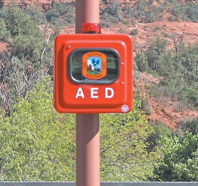 AEDs have been installed throughout the Sedona Fire District, including the Village of Oak Creek.