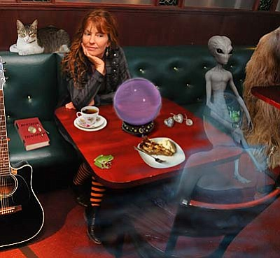 Vyktoria performs Halloween Show<br /><br /><!-- 1upcrlf2 -->Oct. 29<br /><br /><!-- 1upcrlf2 -->Fall would not be complete without Vyktoria Pratt-Keating's scary Halloween show. Featuring songs about spiders, UFOs, frogs and other errant thoughts that fly into her head, Vyktoria's Halloween shows always get the audience into the right phantasmagoric mood, perfect for a weekend of tricks and scares.<br /><br /><!-- 1upcrlf2 -->She will be at Bent River Books & Music, 1010 N. Main St., Cottonwood. Contact (928) 634-8332 or www.bentriverBM.com.<br /><br /><!-- 1upcrlf2 -->
