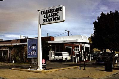 VVN/Philip Wright<br /><br /><!-- 1upcrlf2 -->The Clarkdale Classic Station today is a full-service station that offers service bays for mechanical work. The owner, Micheal Hensley, and his employees still check oil, pump gas and wash windshields.