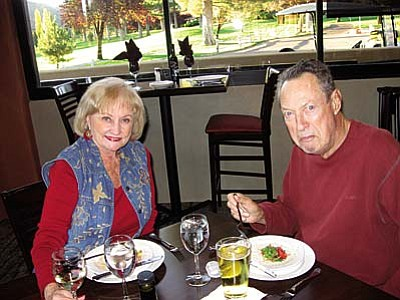 Early dining at Redstone Patio appeals to Joan and Ron Kellichner.