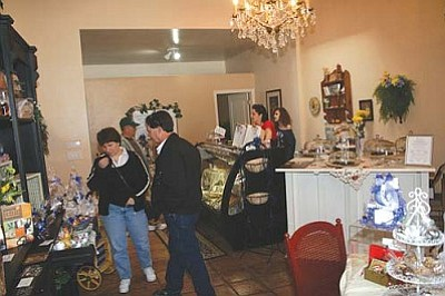 VVN/Philip Wright<br> Bonne Lait, at 926 N. Main St. in Old Town had shoppers looking over the store's artisan cheese and gourmet chocolates selection.