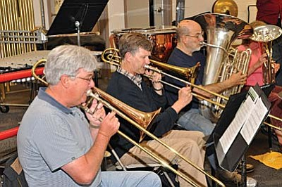 The Cottonwood Community Band is in rehearsals for its Christmas concerts.