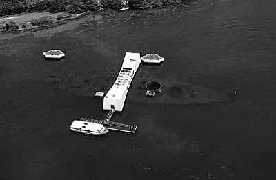 More than 1,000 crewmen were entombed on the USS Arizona, now a national memorial. Artifacts from the battleship can be found at the Arizona state capitol.