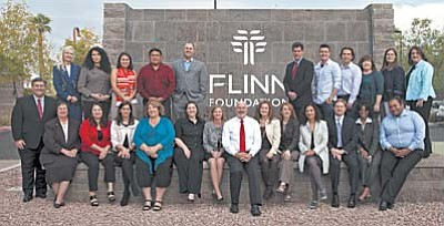 Clarkdale Mayor Doug Von Gausig, center, and 25 classmates recently completed the fall course of the Flinn-Brown Civic Leadership Academy.