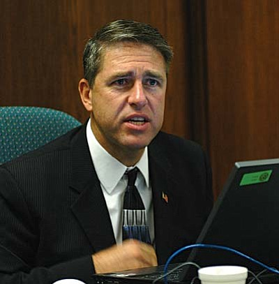 State Rep. Jack Harper, R-Surprise, wants to alter two sections of the Arizona Constitution which now preclude state funds from helping private and parochial schools.  (Capitol Media Services file photo by Howard Fischer)