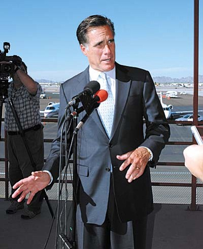 Mitt Romney's support in Arizona is greater than that of all the other candidates combined.