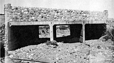 The Cottonwood Bridge near the Old Town Jail was built by the Civil Works Administration (CWA) around 1934 to replace a bridge that had been at the same location since about 1926. Del Monte Wash Bridge was built one year later, in 1935, by the WPA. The bridge forms the N Main entrance to the commercial historic district of Old Town at the southeast end, and the Lions Club has created a pocket park to the southeast of the bridge. Photos courtesy of Clemenceau Heritage Museum.