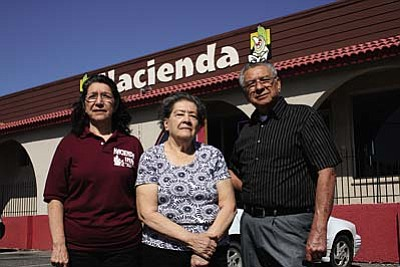 VVN/Philip Wright<br /><br /><!-- 1upcrlf2 -->The Hacienda Inn in Cottonwood will celebrate its 40th anniversary March 13. Vera Varela, center, is owner, and she operates the business with sister Rosie Lee and brother Tony Ortiz