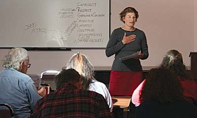 About 40 people turned out to share information and offer ideas at the quarterly meeting of the Verde Valley Homeless Coalition, held March 7 at the Verde Valley Guidance Clinic. VVN/Raquel Hendrickson