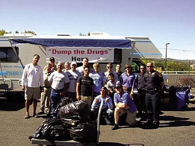 Dump the Drugs countywide<br /><br /><!-- 1upcrlf2 -->April 28<br /><br /><!-- 1upcrlf2 -->A Dump the Drugs event will be held in eight locations county-wide, including Prescott, Prescott Valley, Chino Valley, Williamson Valley, Cottonwood, Sedona, Camp Verde and Beaver Creek.  <br /><br /><!-- 1upcrlf2 --> In the Verde Valley, prescription and over-the-counter medications can be dropped off between 10 a.m. and 2 p.m. at the following locations:  Sedona Police Department, 100 Roadrunner Drive ; Cottonwood Police Department, 199 S. Sixth St.; the Camp Verde Marshal's Office at 646 S. First St., and the Beaver Creek Adult Center, 4250 E. Zuni Way, Lake Montezuma.<br /><br /><!-- 1upcrlf2 -->MATForce encourages everyone to look through your medicine cabinet for expired or unwanted medication and bring it to one of the drop-off locations.  For more information call (928) 708-0100 or visit matforce.org.<br /><br /><!-- 1upcrlf2 -->