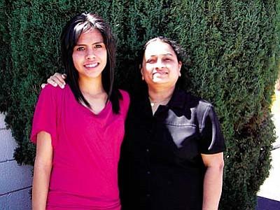 Janeth Mendoza and Mrs. Uma Mahendran
