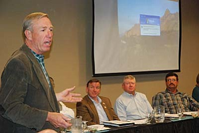 """District 2 Supervisor Tom Thurman was among the regional leaders and members of the Arizona Cattle Growers Association who attended a question and answer session in Camp Verde discussing the proposed """" Catastrophic Wildfire Protection Act of 2012. VVN/Steve Ayers"""