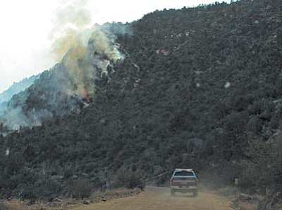 Smoke from the human-caused Gladiator Fire near Crown King is blanketing the Verde Valley.