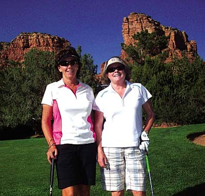 Overall winners in the the OCC Ladies' Invitational were Lori Zaun from OCC and Suzie Hite from Continental GC in Flagstaff with a low gross of 74