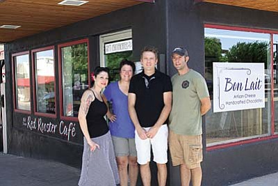 VVN/Philip Wright<br /><br /><!-- 1upcrlf2 -->Owners of the Old Town Mercado are Brighid Bartosh, left, Jet Tennant, Scott Hudson and Shane Smith.