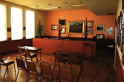 Jerome's Town Council Chambers is located on the second floor (ground level) of the renovated Clark Street School.
