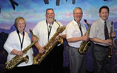 "Cool Sax for a Hot July<br /><br /><!-- 1upcrlf2 -->July 22<br /><br /><!-- 1upcrlf2 -->The group Sax Appeal will present ""Cool Sax for a Hot July"" at 2 p.m. in the next installment of the Rainbow Acres Fine Arts Series of concerts. Free to the public. Light refreshments will be served following the performance.<br /><br /><!-- 1upcrlf2 -->The concert is in the Palmer Community Center, 2120 W Reservation Loop Road. For more information, contact Margie Beach at (928) 567-5231 or margie@rainbowacres.com."
