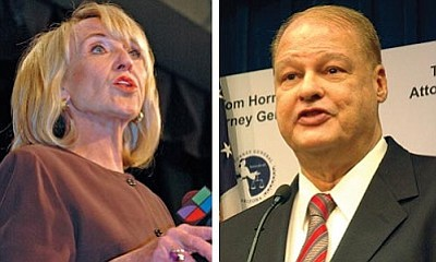 Attorney General Tom Horne said Gov. Jan Brewer's waiver will allow one of his deputies to continue to provide legal advice to the state health department even as he personally pursues a court order declaring the dispensaries preempted by federal law.