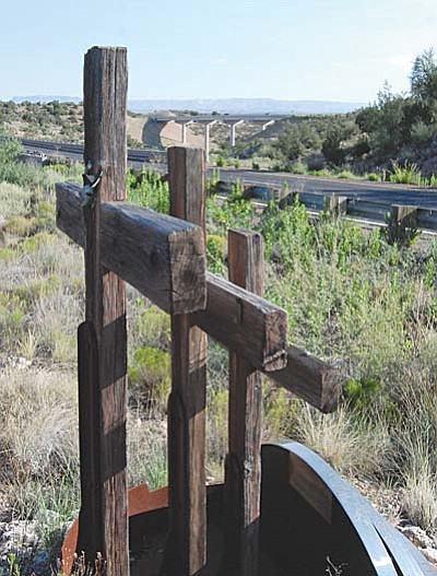 The memorial to Pastor William Hutchinson and his two sons, serves as a reminder to some of a needless accident of State Route 260 and a reminder to others of the need to widen the road between Camp Verde and Cottonwood.