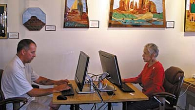 SPL-V recently received two technology grants awarded by the Arizona State Library, Archives and Public Records, a division of the Secretary of State.  Funds from the first grant were used to purchase five new desktop computers and five laptop computers for free public use.