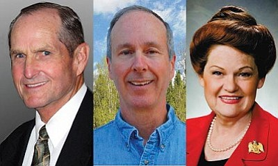 Chester Crandell (left) was elected state senator from District 6 (which includes the Verde Valley) while Bob Thorpe and Brenda Barton were elected to the House.