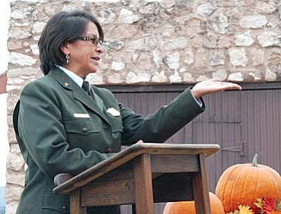 Dorothy FireCloud, the new superintendent of the Montezuma Castle and Tuzigoot, was officially installed in her position during a ceremony at Tuzigoot National Monument.