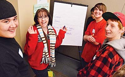 Local teens brainstrom plans for proposed Cottonwood teen center Saturday. VVN/Jon Pelletier