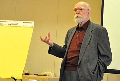 Tom Pitts of the Verde Valley Wine Consortium and Verde Valley Regional Economic Organization addressed the economy of the Verde Valley as a whole. He indicated that the future of the Verde Valley's economic strengths lies in the expansion of professionals in the ever-growing wine industry and the embracing of its unique history and prehistory.