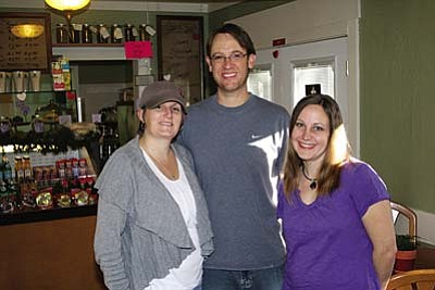 VVN/Philip Wright<br /><br /><!-- 1upcrlf2 -->Three of the four owners of Orion&#8217;s Flour Garden Café are Clover Pinion, Bryan Thompson and Trecia Taylor. Ryan Taylor is not pictured.