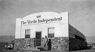 The familiar quonset hut on Main Street, home to the Verde Independent, has been expanded and modernized over the years to fill the needs of the changing newspaper business.