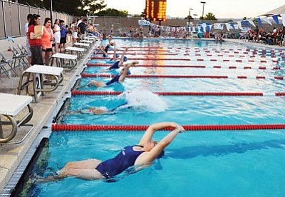 VVN/Jon Pelletier<br> Mingus Union may have to re-evaluate its swimming program's funding.