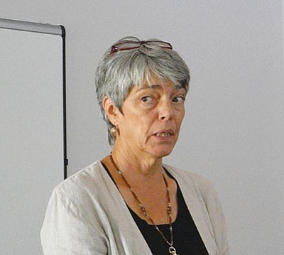 VVN/Jon Hutchinson<br> Maureen Rooney, with the Arizona Department of Housing addressed a Verde Valley Homeless Coalition meeting on Wednesday.